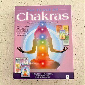 Chakra Book & Wisdom Card Set Kit - NIB